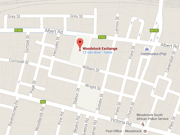woodstock exchange cape town map